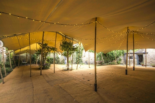 Stretch tent over a tree stretch marquee hire Huddersfield stretch tent hire west yorkshire kirklees stretch tent hire yorkshire